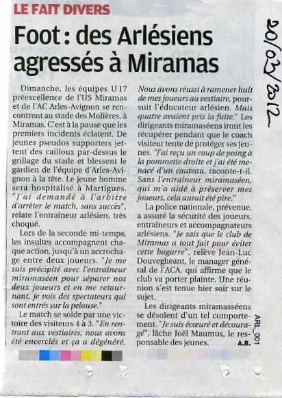 Miramas : Agressions lors d'un match de foot dans Faits divers revue-de-presse005