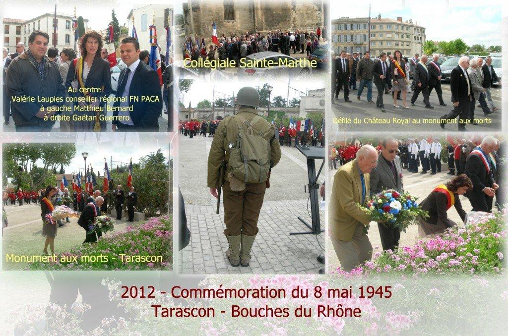 Tarascon : Valérie LAUPIES conseillère régionale FN a participé à la commémoration du 8 mai 1945 à Tarascon dans france 8-mai-2012-1024x678