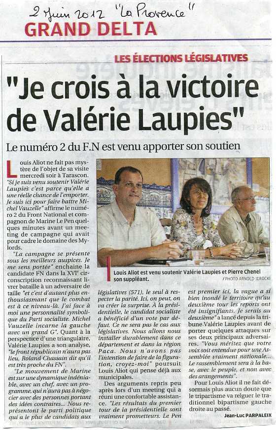 Législatives 2012 / Bouches-du-Rhône – Louis Aliot (FN) : « Je crois en la victoire de Valérie Laupies » dans france RBM-V-LAUPIES005