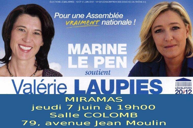 Législatives 2012 : Réunion publique de Valérie LAUPIES à MIRAMAS le jeudi 7 juin à 19 heures dans militantisme Sans-titre-1