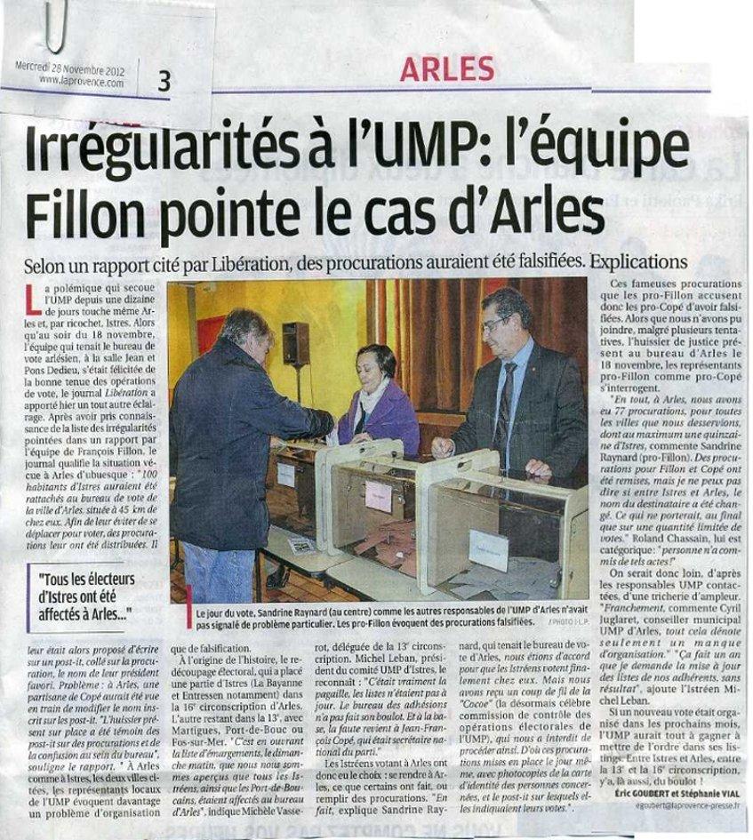 UMP ARLES : Selon Libération, les militants qui votaient par procurations notaient le nom de leur président favori sur un post-it !  dans france tricheries-ump-arles