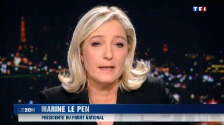 Marine Le Pen TF1