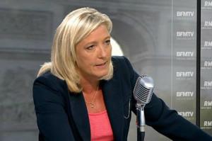 Marine Le Pen bfm
