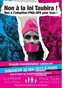 Manif pour tous le 26 mai à Paris : le Front National y sera à 14 heures porte Dauphine dans culture flyer-3-61aa7-216x300