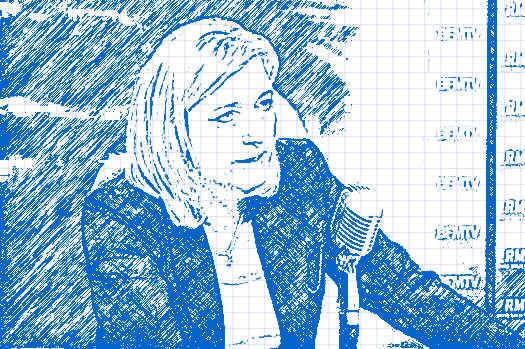 Réaction de Marine Le Pen aux émeutes à Paris dans france photomania_22259316