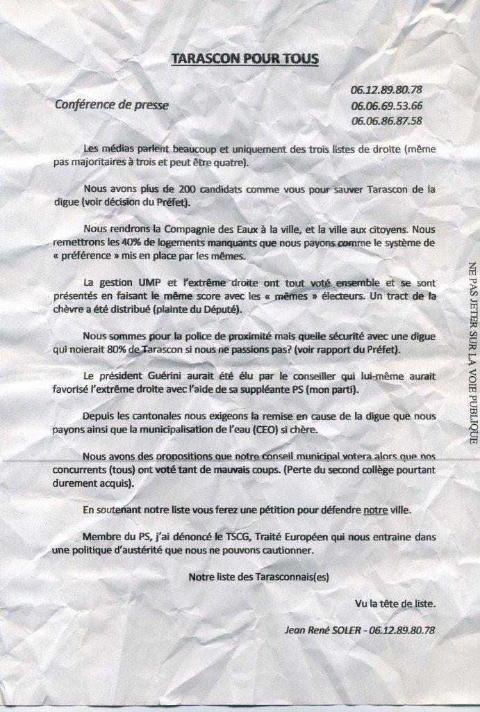 Tarascon : Le tract incompréhensible du socialiste J.R Soler .... dans Critique soler-le-socialiste-tarasconnais002