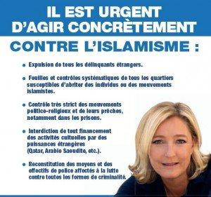 URGENT islamisme le pen