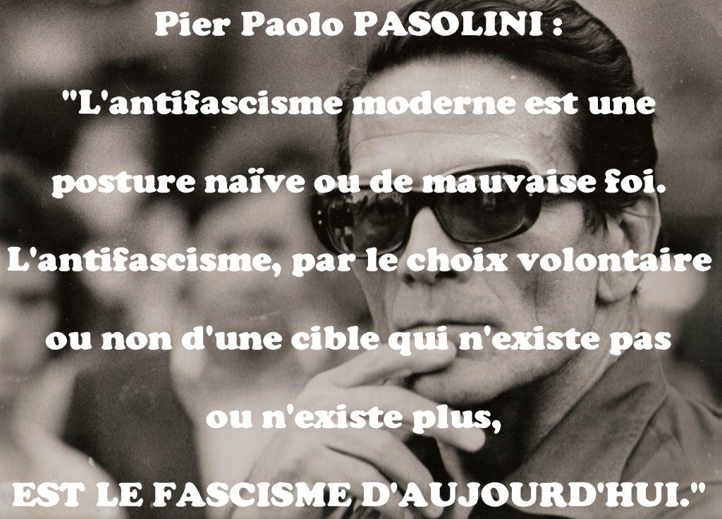 L'antifascisme moderne selon Pier Paolo PASOLINI (1922-1975)... dans cinema pasolini