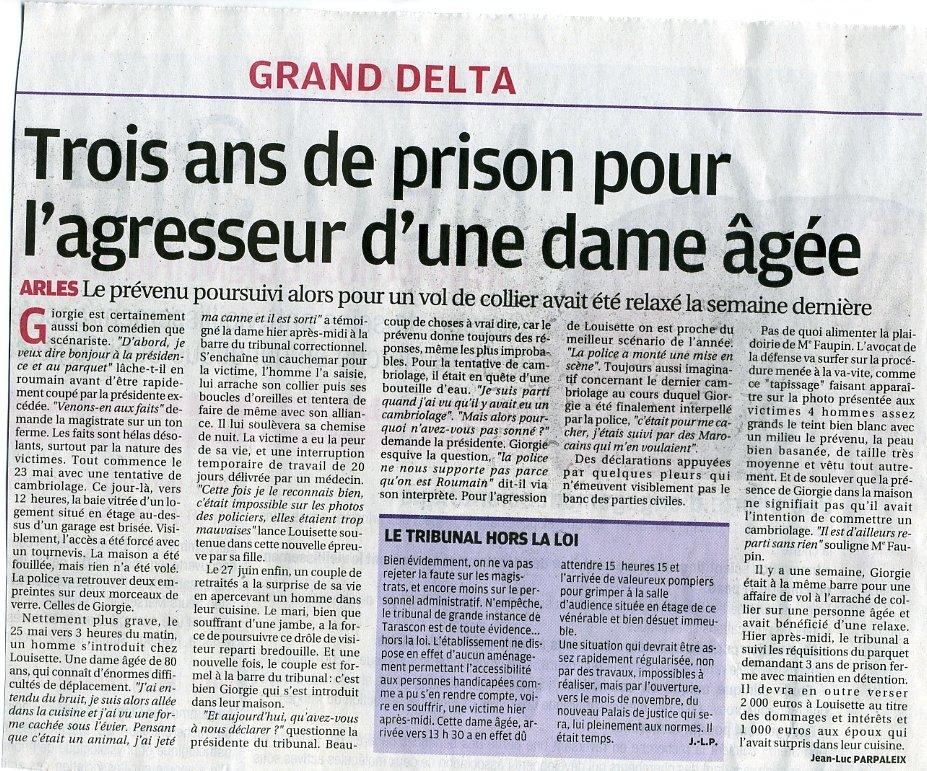 Arles : A peine relaxé, le détrousseur a repris ses activités dans Faits divers roumain-giorgie001