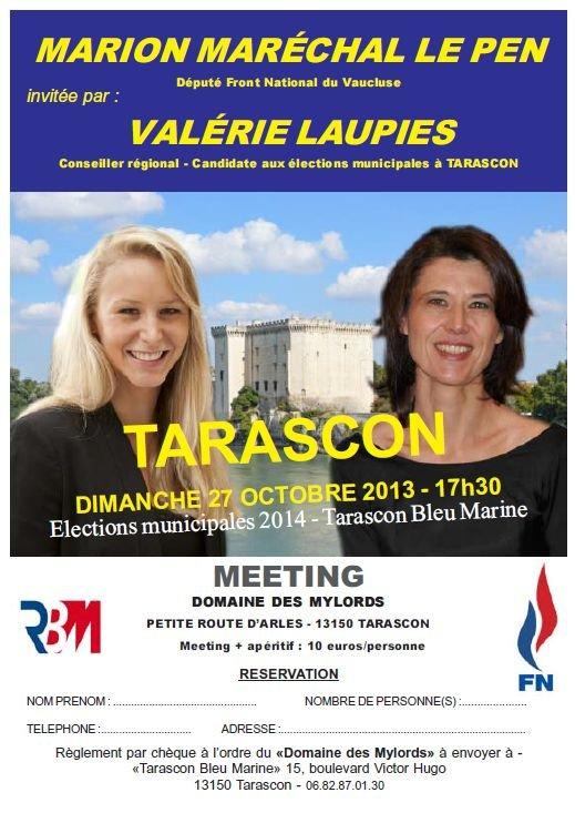 Marion Maréchal Le Pen sera à Tarascon le 27 octobre dans france flyer-mmlp-2710