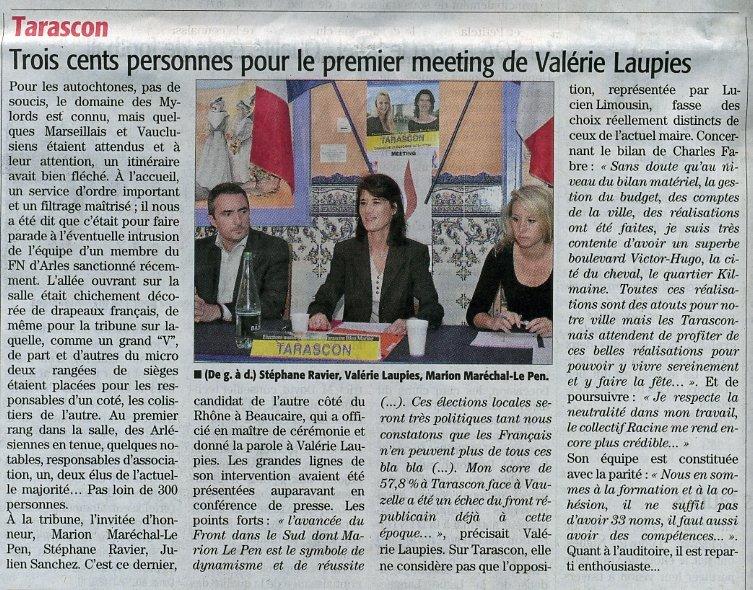 page 11 Midi Libre 29/10/2013 Beaucaire-Tarascon
