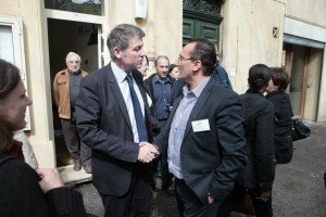 Jean-Philippe GARCIA le président de la FCPE13 en compagnie de Vincent PEILLON l'initiateur de la réforme des rythmes scolaires