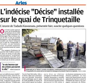 La Provence - Edition Arles le 26/10/2014