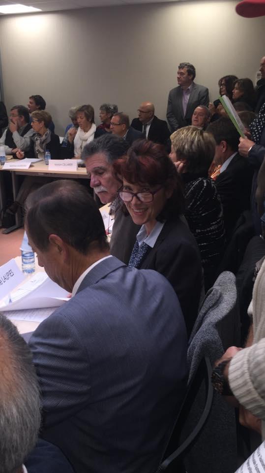 Valérie LAUPIES (FN)  le 14 octobre au conseil communautaire ACCM