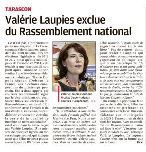 Valérie Laupies EST exclue du RN